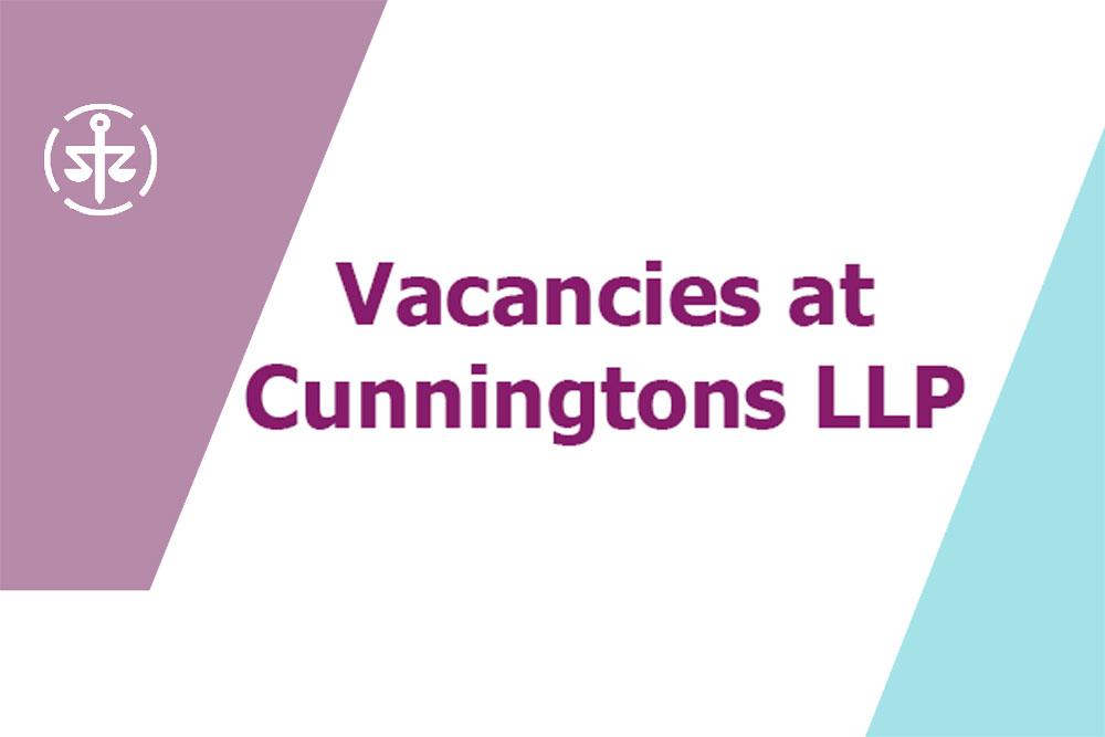 Vacancies at Cunningtons